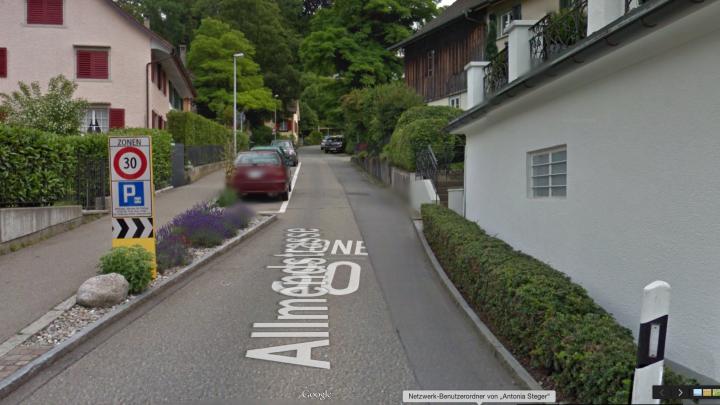 Google Street View in Küsnacht, Schweiz