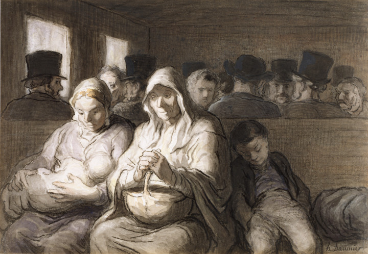Honoré_Daumier_-_The_Third_Class_Carriage_-_Walters_371226_kl
